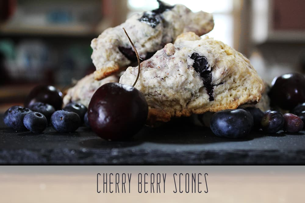 Easy Cherry Berry Scones Recipe