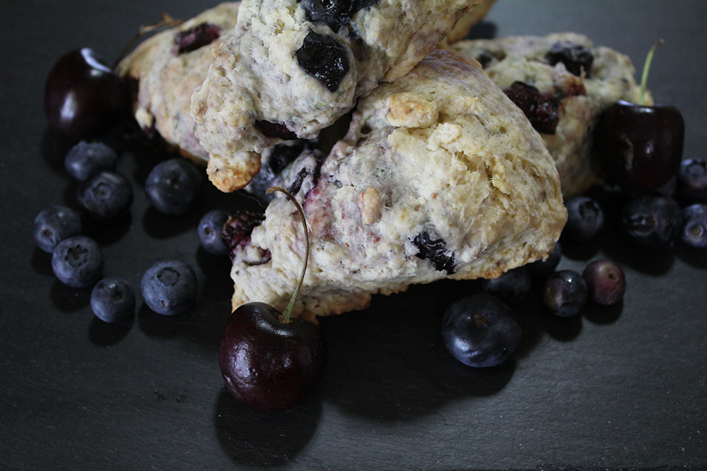Easy and Delicious Cherry Berry Scones