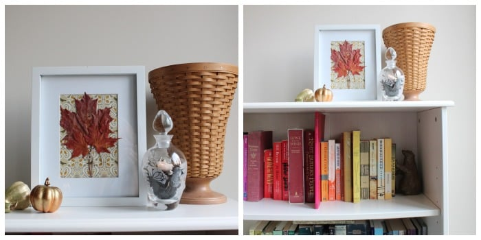 Decorating with Nature: framed leaves