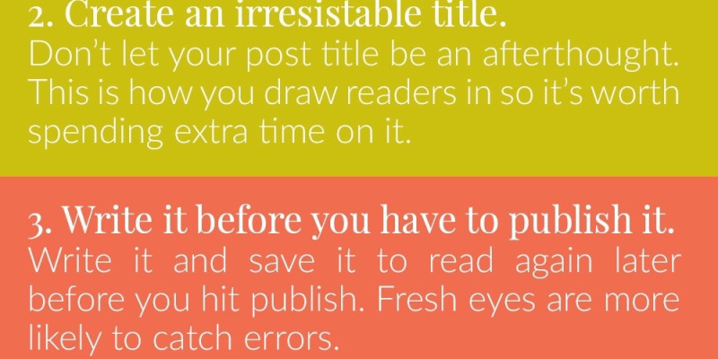 Five Easy Ways To Write Better Blog Posts