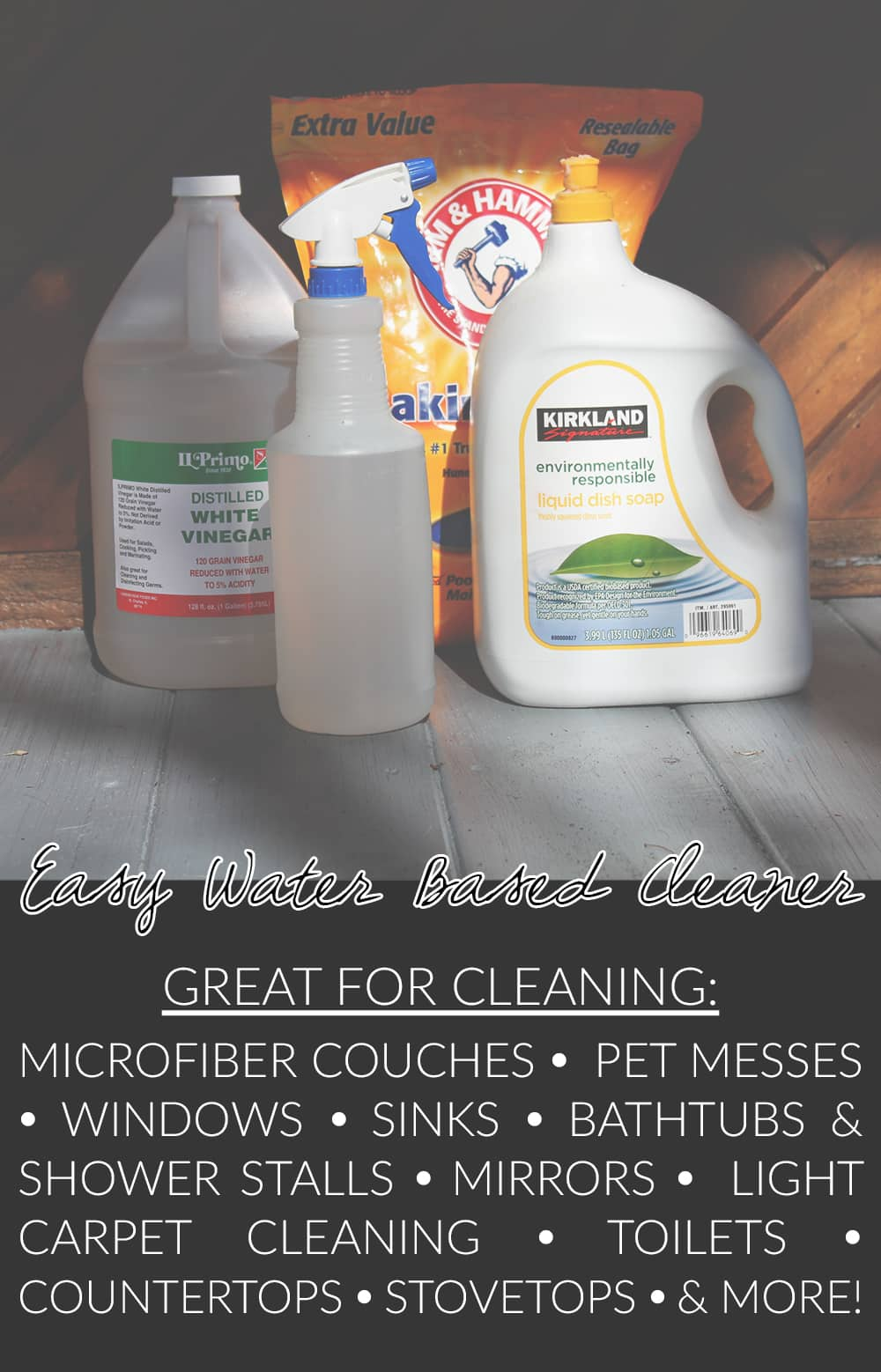 Easy Homemade Water Based Cleaner