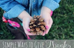 simple ways to give thanks