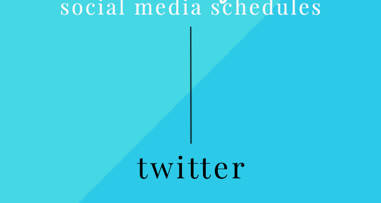 Social Media: Creating a Twitter Schedule