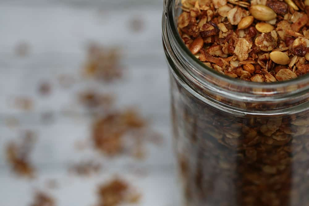 Homemade Granola Close-Up