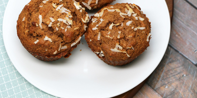 Coconut Banana Nut Muffins