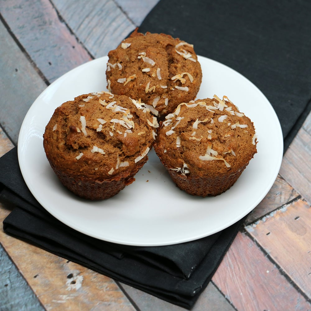 Coconut Banana Nut Muffins Recipe