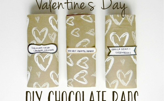 Homemade Chocolate Bars for Your Valentine