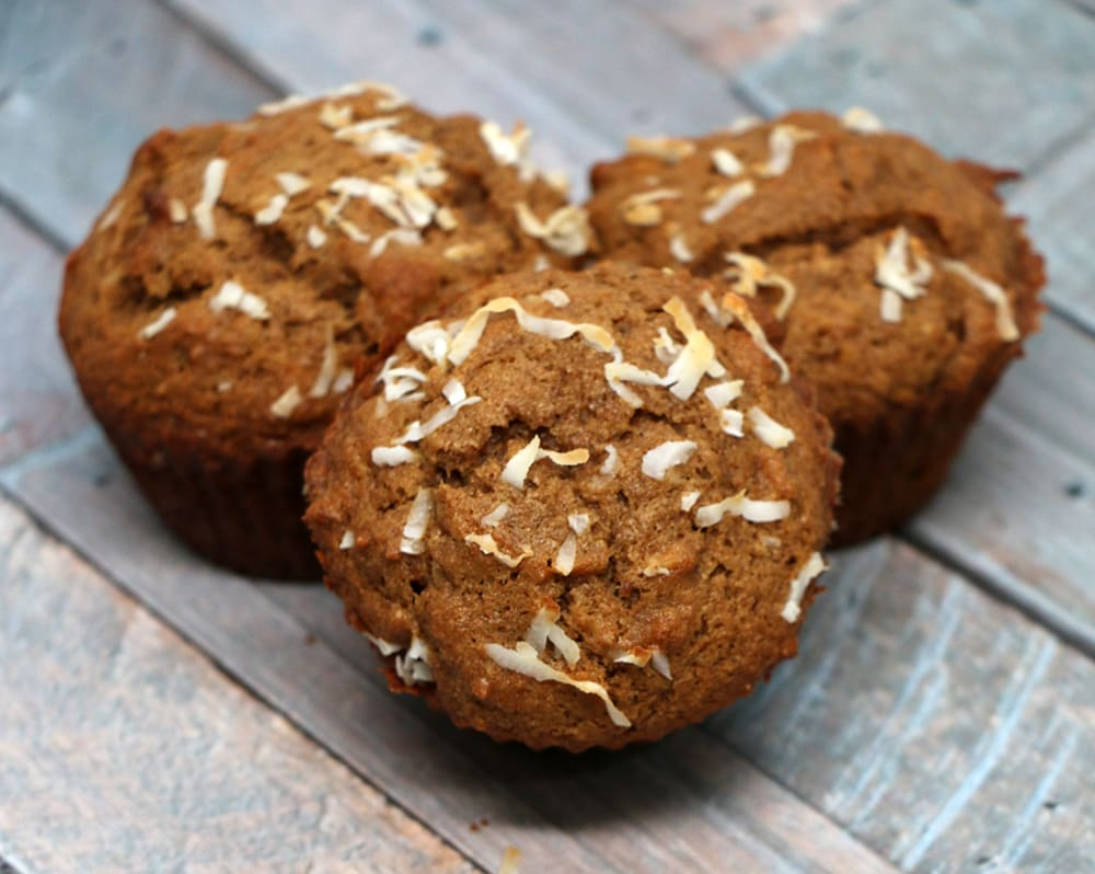 Delicious Coconut Banana Nut Muffins