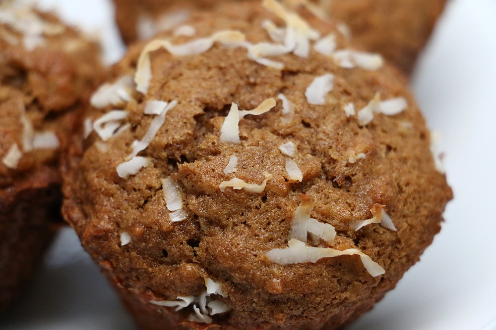 Easy Coconut Banana Nut Muffins