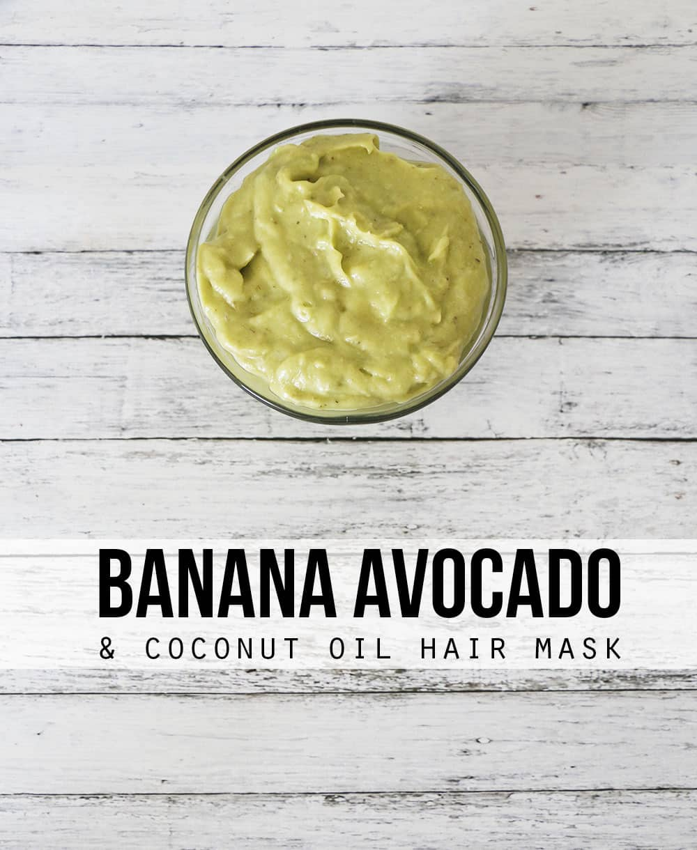 Looking for a homemade hair mask? This coconut oil avocado and banana hair mask can't be beat! With just three ingredients, your hair will look less damaged and feel healthier in no time.
