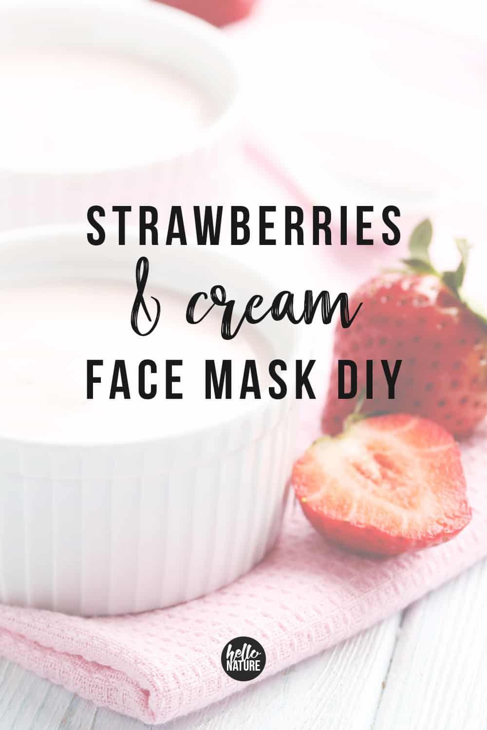 If you want a natural way to relieve dry, irritated skin, you'll love this homemade Strawberry Yogurt and Oatmeal Face Mask DIY. It's soothing and super easy to make with just three ingredients. Your face will reap the benefits from this simple DIY face mask at home in your PJs for less than the cost of a Starbucks latte. #OatmealFaceMask #StrawberryFaceMask #YogurtFaceMask #FaceMaskDIY #DIYFaceMask #DIYBeauty #BeautyDIY #AtHomeSpaNight #FrugalBeauty #BeautyHack #DrySkin