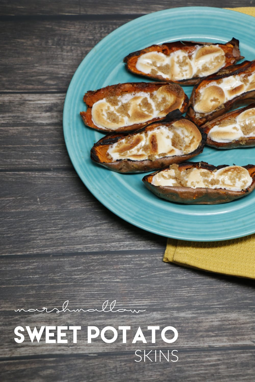 Marshmallow Sweet Potato Skins Recipe