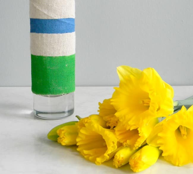 Painted Fabric Wrapped Vase by Hello Nature Blog
