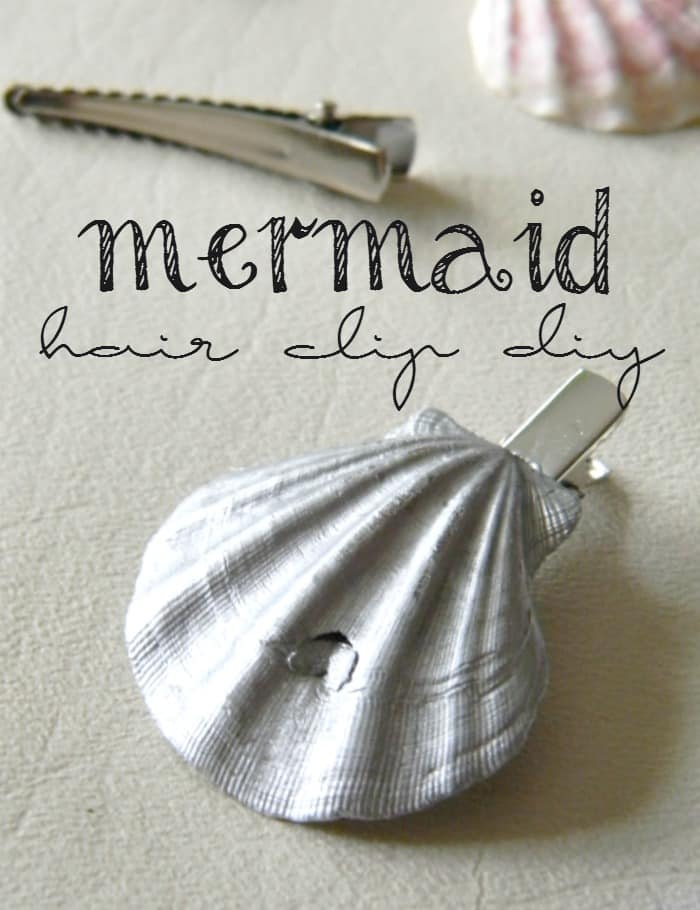 DIY Tutorial Mermaid Shell Hair Clip. How much would your daughter freak out over this?!?