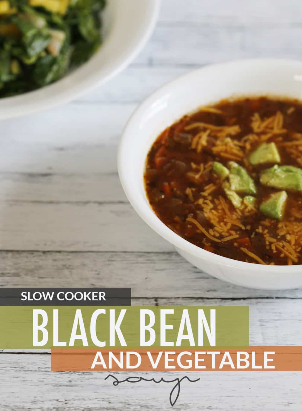 Slow Cooker Black Bean and Vegetable Soup