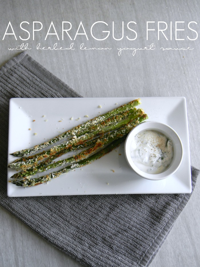Asparagus Fries with Herbed Lemon Yogurt Sauce