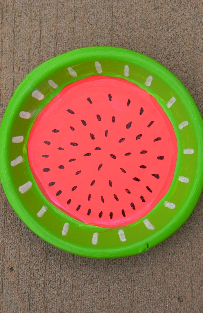 Watermelon Painted Terracotta Coaster DIY
