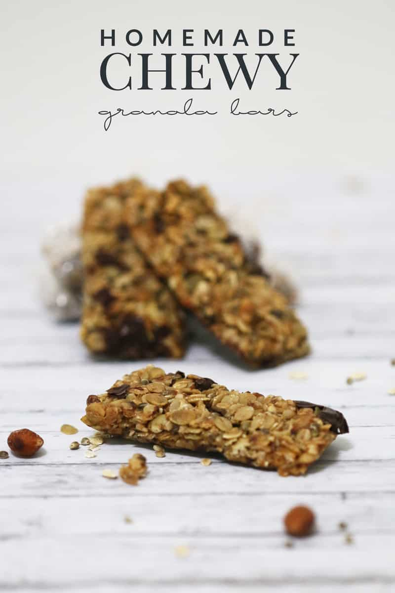 This homemade chewy granola bar recipe is perfect for your hikes, road trips, or for a quick yet healthy snack. Great for kids and adults!