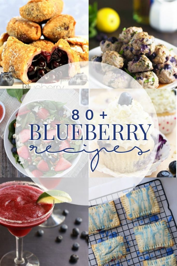 A collection of over 80 delicious blueberry recipes to celebrate National Blueberry Month in July!