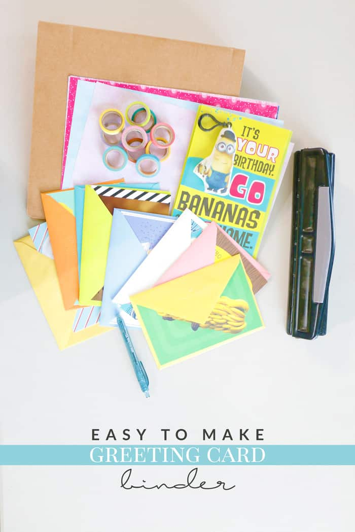 Greeting card binder diy and why i stock up on cards hello nature stock up on cards so you never forget another occasion and keep them organized with this m4hsunfo