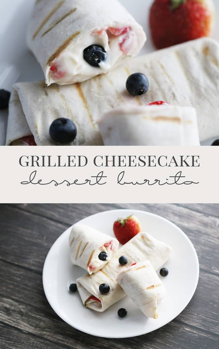 Need something new to make on the grill? Try this delicious grilled cheesecake dessert burrito! Quick, easy and great for the whole family!