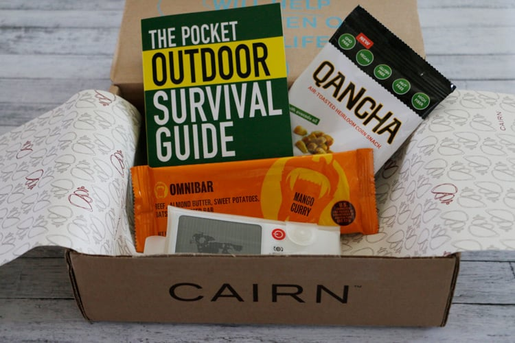 My Cairn Subscription Box Review for August 2015. An awesome box for outdoor enthusiasts!