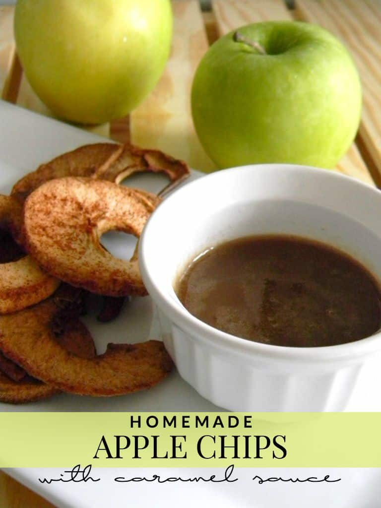 Need something new to make with your apples this Fall? Try these delicious homemade apple chips and this easy caramel sauce!