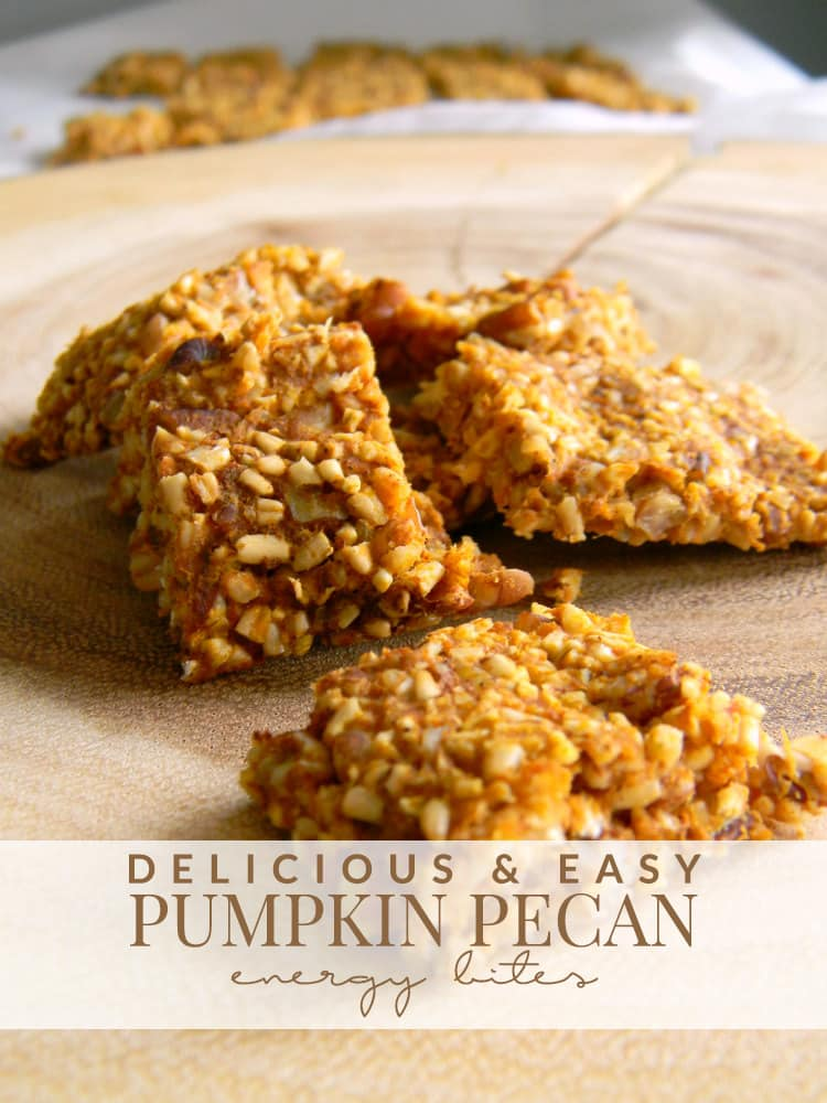 These pumpkin pecan energy bites are the perfect way to enjoy the tastes of the season in a healthier way! Great for an energy boost during the day, too!