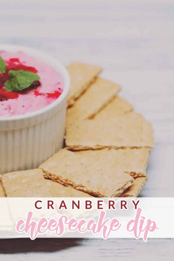 Go festive with a cranberry cheesecake dip that's sure to please the whole family! This dip is easy to make and even easier to enjoy!