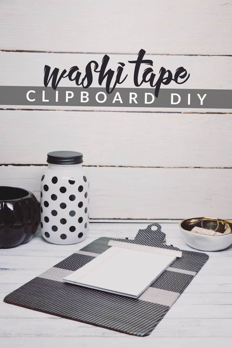washi tape clipboard diy washi tape crafts book review hello nature. Black Bedroom Furniture Sets. Home Design Ideas