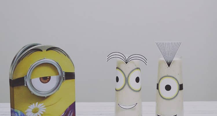 Banana Creamsicle Minions Smoothie with Printables