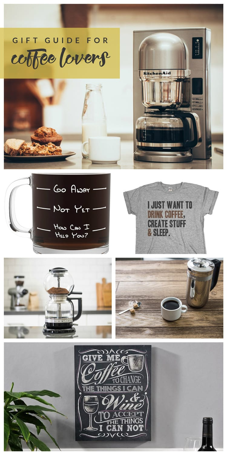 Not sure what to get the coffee junkies in your life? This Gift Guide for Coffee Lovers has you covered! From coffee makers to mugs to home decor + more!