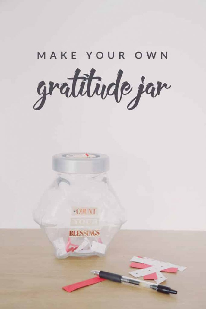 Want a fun and easy way to review the things you've been grateful for throughout the year? Make this simple DIY gratitude jar!