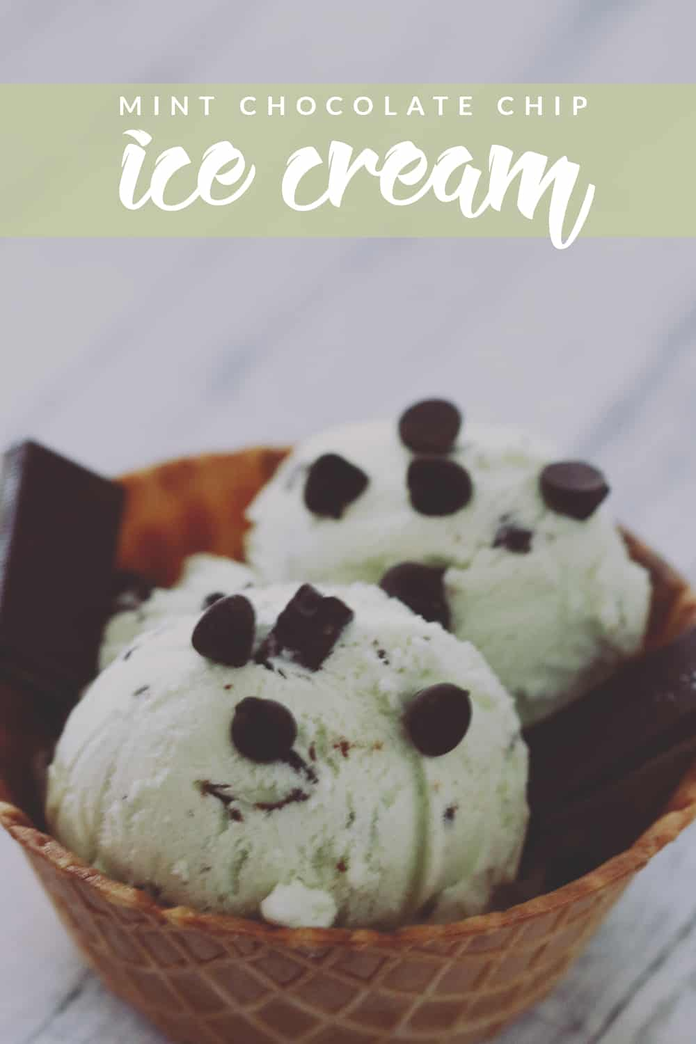 Mint Chocolate Chip Ice Cream just got better. This easy recipe is perfect to make at home and just the right amount of mint and chocolate!