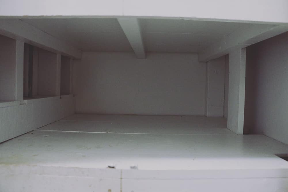 Empty Cabinet Shelf
