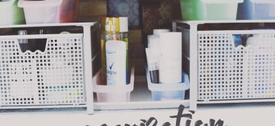 How To - Bathroom Cabinet Organization