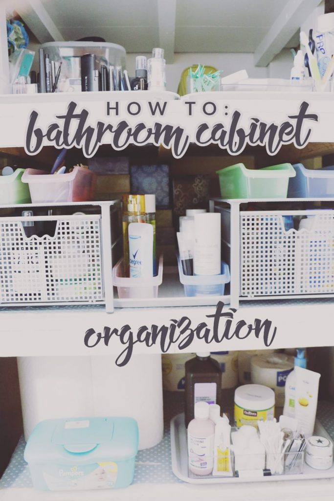Need some inspiration for your bathroom? Check out our bathroom cabinet organization renovation! Simple and easy tricks to end the clutter!