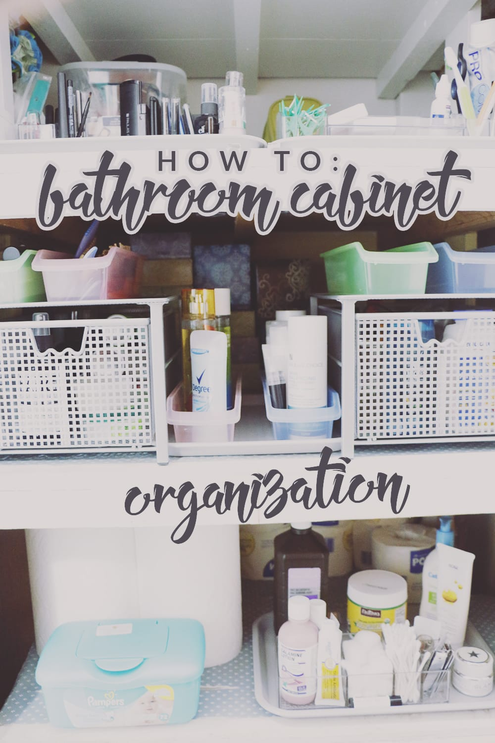 organize bathroom cabinets before amp after bathroom cabinet organization renovation 13860