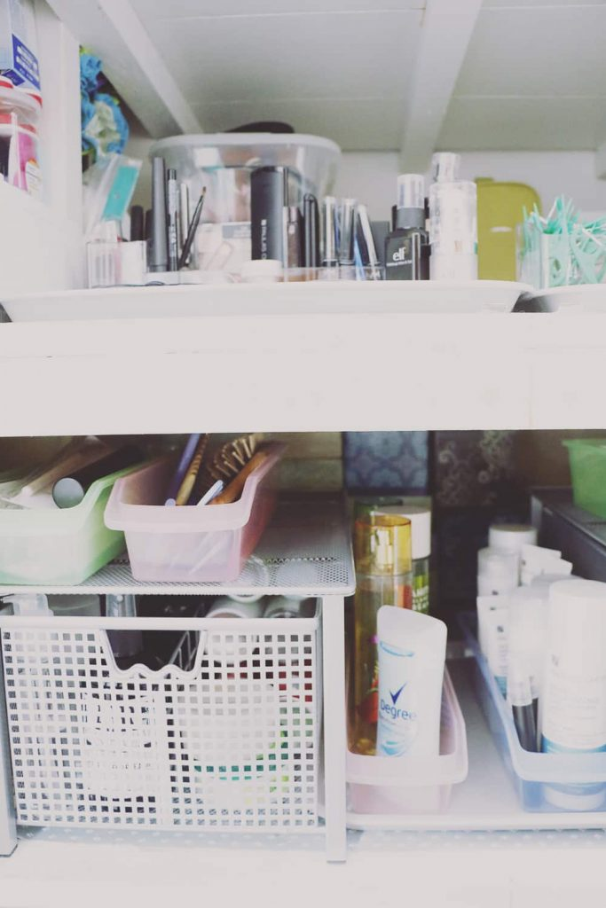 Organized Bathroom Cabinet Shelves