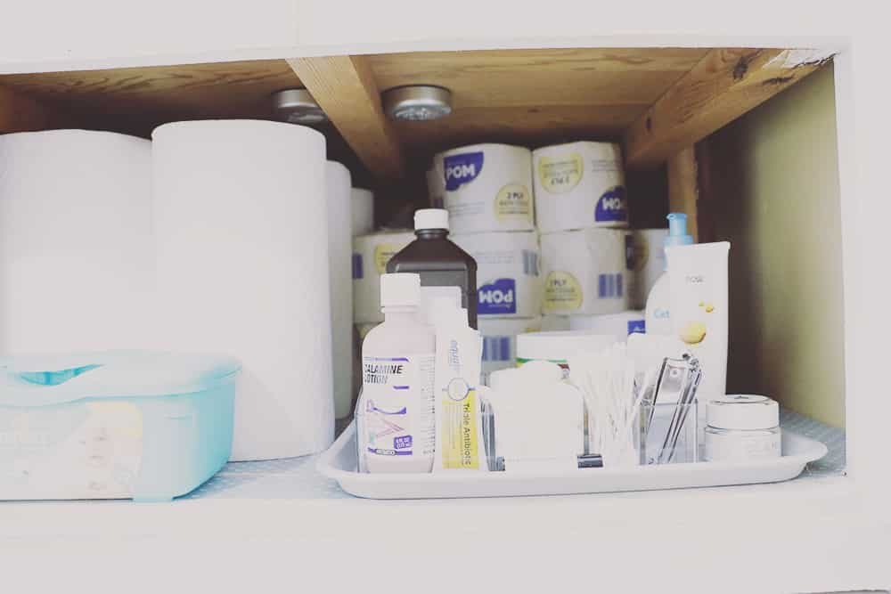 Organized Bathroom Cabinet Tray