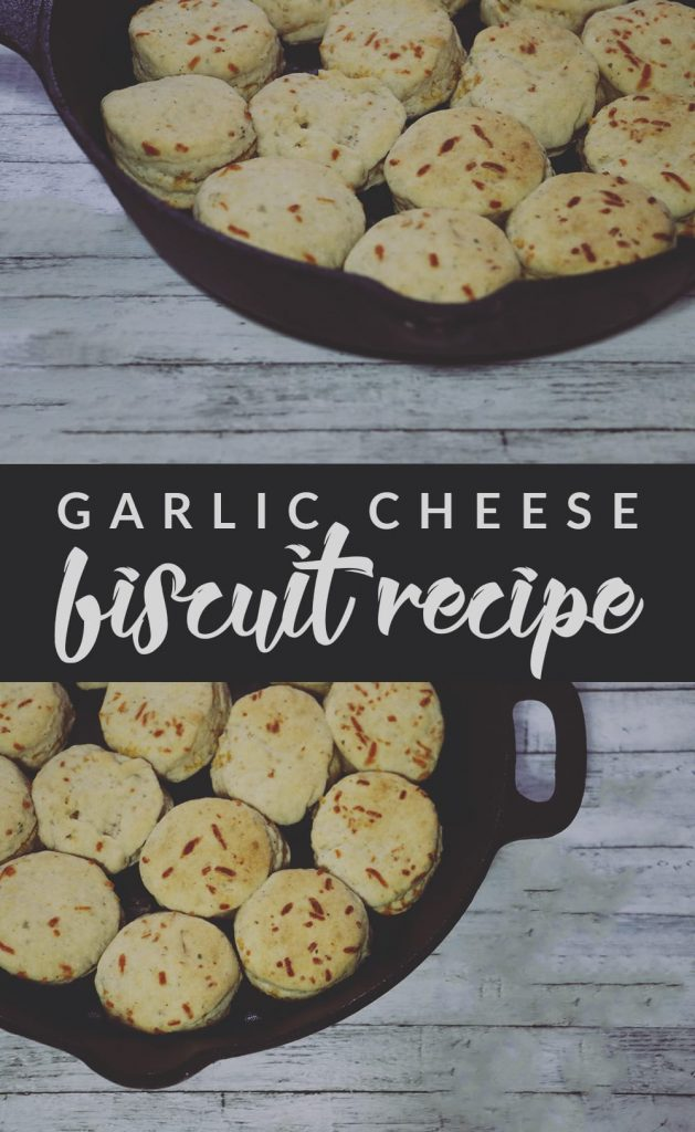This garlic cheese biscuit recipe is made from scratch and SO easy to make! In about 30 minutes, you can whip up these restaurant style biscuits!
