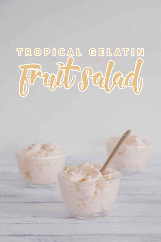 Looking for a healthy dish that doesn't taste like it is? This tropical gelatin fruit salad is SO simple to make and it's absolutely delicious!