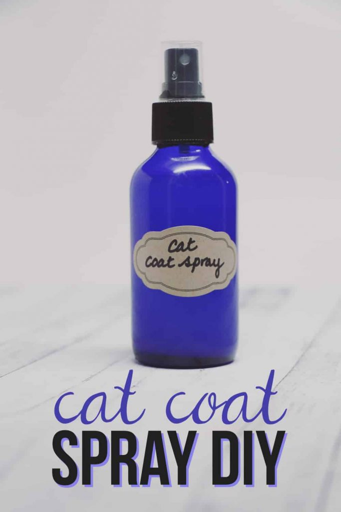 You can easily keep your house smelling fresh with cats with a few simple steps and this easy to make cat coat spray DIY!
