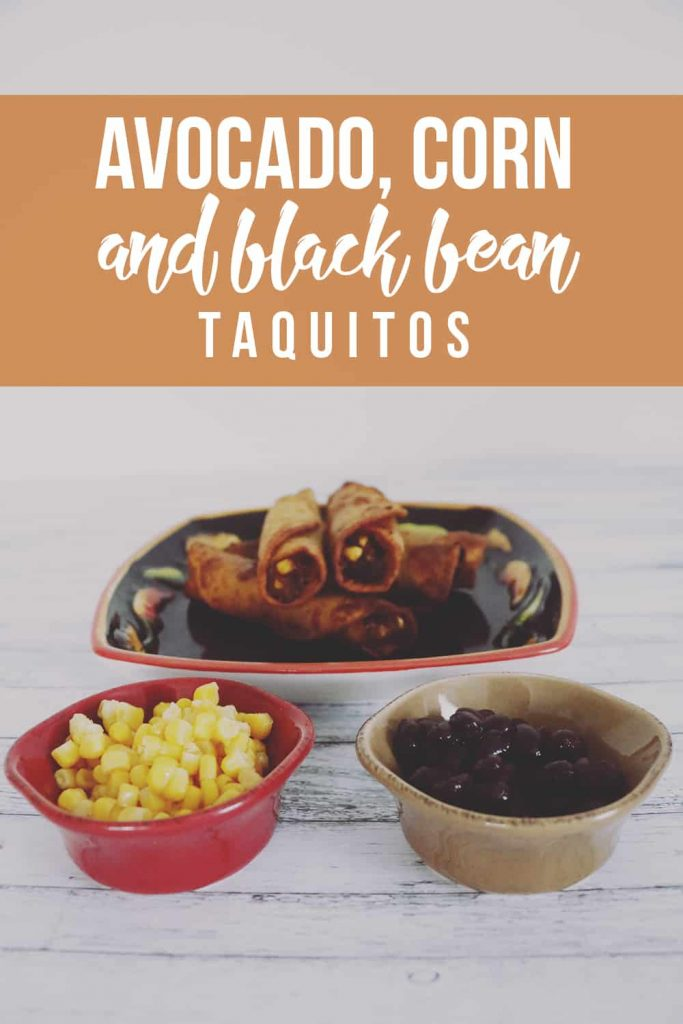 Avocado Corn and Black Bean Taquitos Recipe