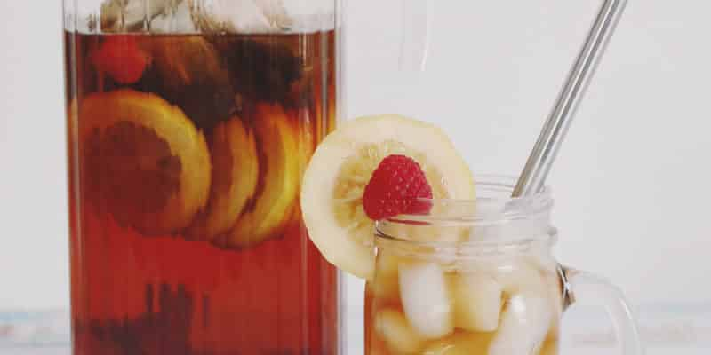 Simple Raspberry Lemon Sun Tea Recipe #MakersMixUp