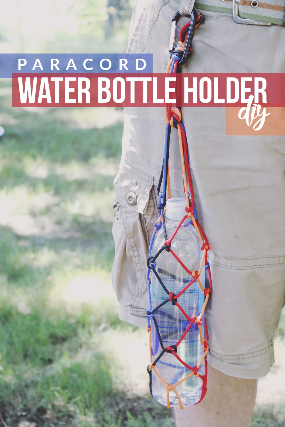 Make hiking even more enjoyable this Summer with this paracord water bottle holder DIY and these easy ways to stay hydrated!