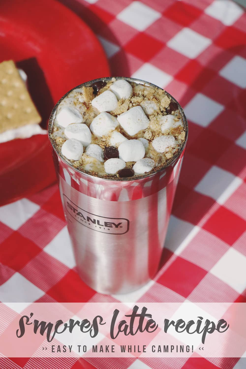 If you're in need of the perfect drink whether you're enjoying your campsite or at home wishing you were outdoors, this S'mores Latte recipe is it!