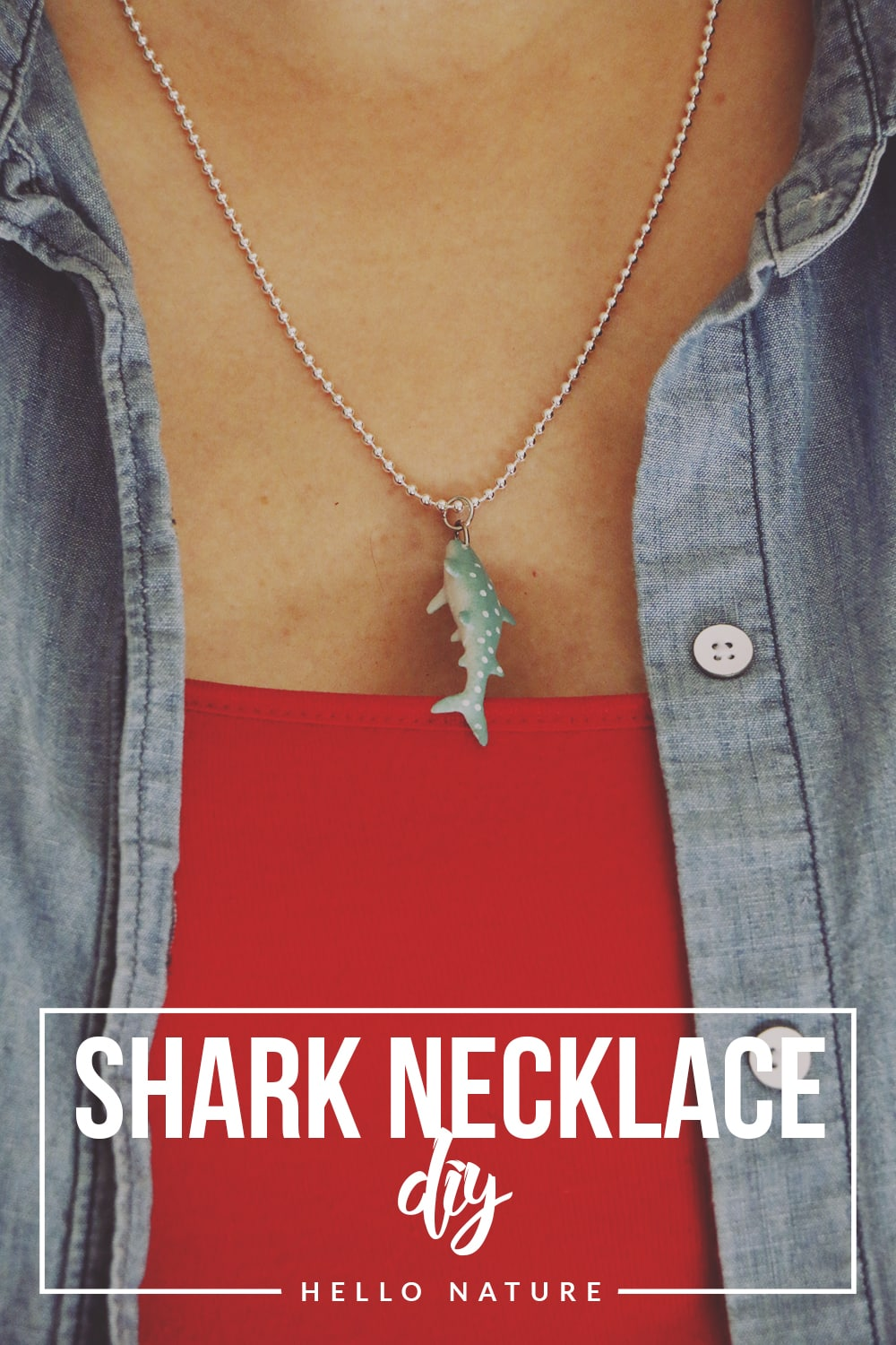 Celebrate shark week and shark awareness day with this fun and easy shark necklace DIY! You'll be ready to share your love for the ocean in no time!