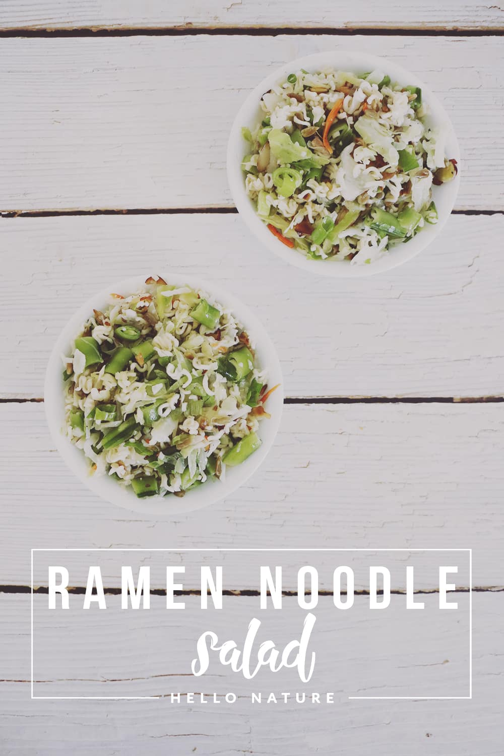 This ramen noodle salad recipe is perfect for Summer get-togethers and picnics! It's light, delicious and super simple to make!