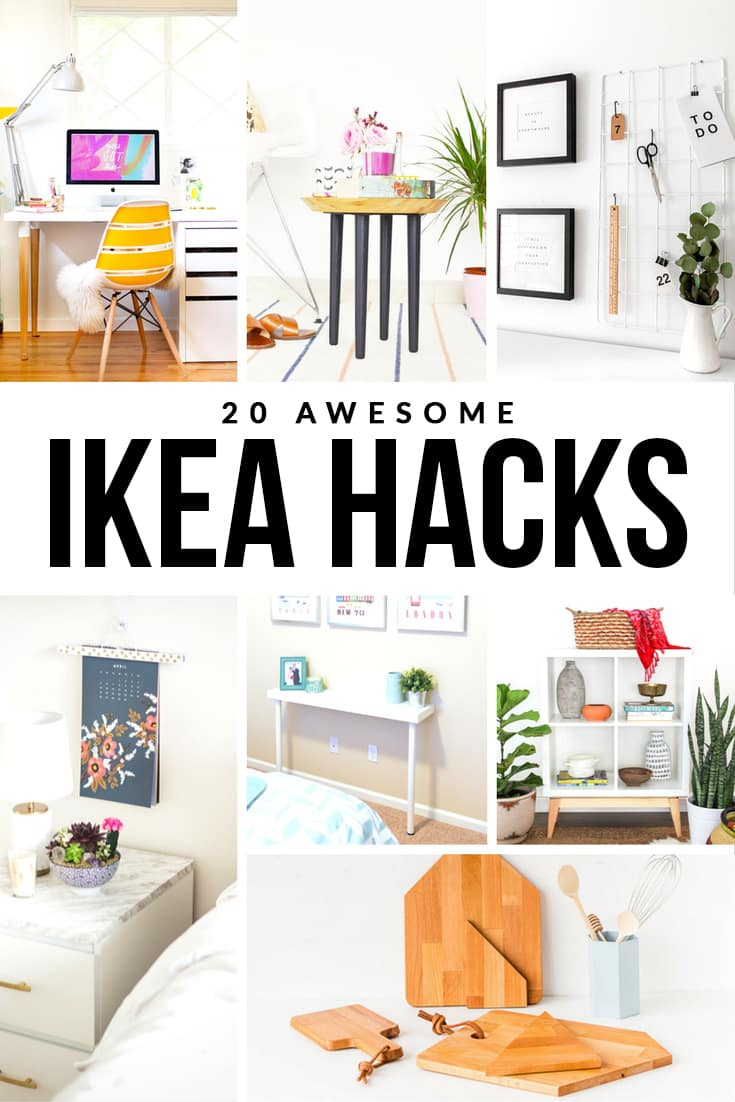 Upgrade your home with these twenty awesome IKEA hacks! With just a few changes, you'll have customized furniture that's perfect for your home!